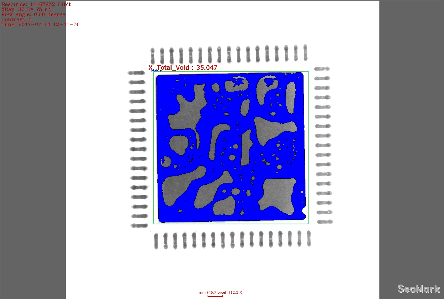 ic pcb bga x ray imaging